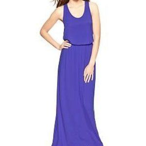 Gap Ruched T-Back Maxi in Powerful Blue Large